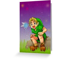 Kid Link and Navi Greeting Card