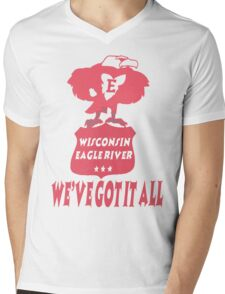Wisconsin Eagle River Mens V-Neck T-Shirt