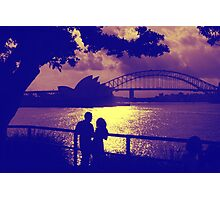 Love, actually, at sunset Sydney Harbour Photographic Print