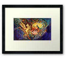 The Golden Griffin Framed Print