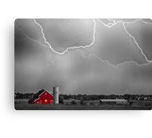 Farm Storm HDR BWSC Canvas Print