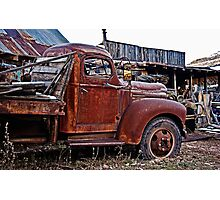 Old Flatbed International Truck Photographic Print