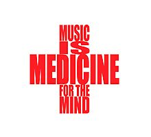 MUSIC MEDS Photographic Print