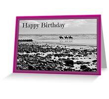 Horse on Amroth Beach - Birthday Card Greeting Card