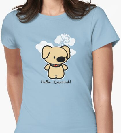 Hello... Squirrel  Womens Fitted T-Shirt