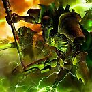 Necron Lord & Warriors by FailedDEATH666
