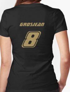 Grosjean 8 Womens Fitted T-Shirt