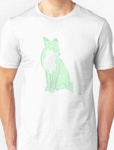 semi-transparant greenlined fox Unisex T-Shirt