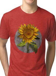 Heart Sunflower Tri-blend T-Shirt