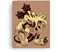 MICKTHULHU MOUSE (monochrome) Canvas Print