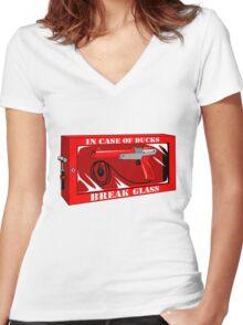 In case of ducks  Women's Fitted V-Neck T-Shirt