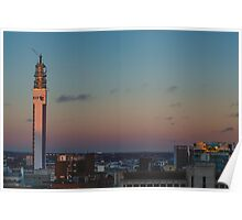 Birmingham BT Tower at Sunset Poster