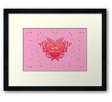 Elegant Red Heart Framed Print