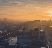 Foggy Sunrise over Digbeth, Birmingham by Verity Milligan