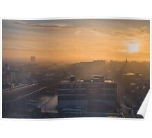Foggy Sunrise over Digbeth, Birmingham Poster