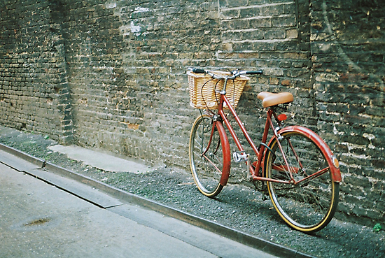 red bicycle by Tess Smith-Roberts