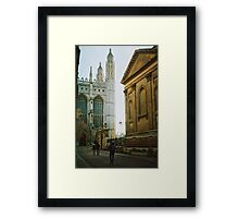 colleges in the sunset Framed Print