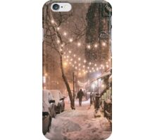 East Village in the Snow - New York City iPhone Case/Skin