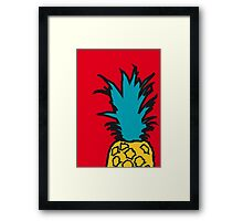 Pineapple pop red print Framed Print