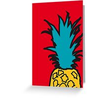 Pineapple pop red print Greeting Card