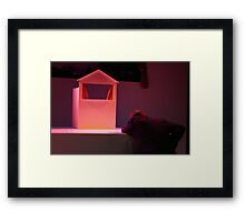Lonely actor Framed Print