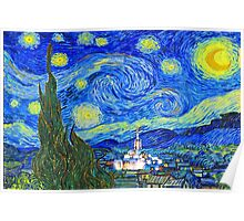 Starry Starry Night with Temple 20x30 Poster