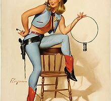 Cowgirl Pin-up Girl by TilenHrovatic
