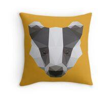 Badger Love Throw Pillow
