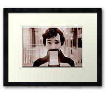 Sherlock—Love is a dangerous disadvantage Framed Print