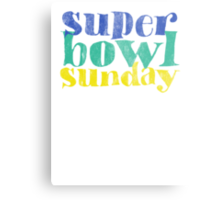 Super Bowl Sunday XLVIII 2014 Metal Print