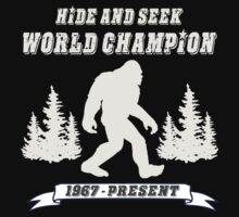 Hide and Seek World Champion Dark Tee by Tim Miklos