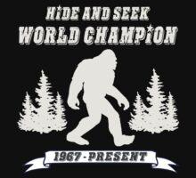 Hide and Seek World Champion Dark Tee by Tim Miklos