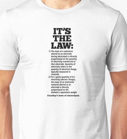 Faraday's laws of electrolysis T-Shirt