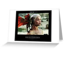 Dragonborn Khaleesi Greeting Card