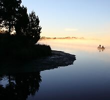 Misty Morning Fishing by Carol Bailey White