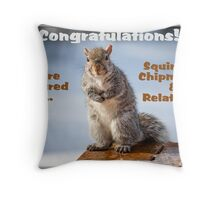 Squirrels, Chipmunks & Relatives Banner Throw Pillow