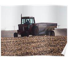 Spreading Fertilizer Poster