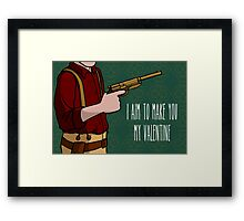 I Aim To Make You My Valentine Framed Print