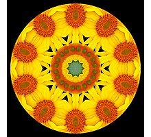 Sunflower Kaleidoscope Photographic Print
