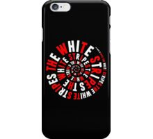White Stripes Whirlpool iPhone Case/Skin
