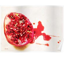 Luscious Ripe Pomegranate Poster