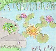 A Lazy Day By The Pond by Briony Ryan