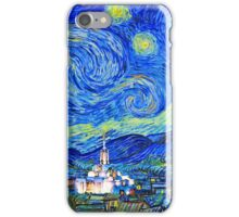 Starry Starry Night with Temple 16x20 iPhone Case/Skin