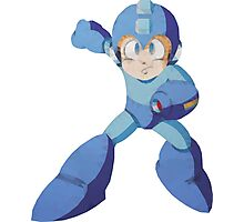 Mega Man 3 - Polygon Mega Man Photographic Print