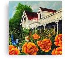 The rose gardens. Franklin Tasmania Canvas Print