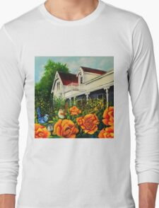 The rose gardens. Franklin Tasmania Long Sleeve T-Shirt