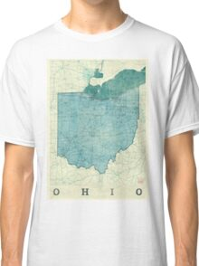 Ohio Map Blue Vintage Classic T-Shirt