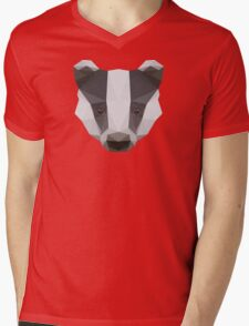 Badger Love Mens V-Neck T-Shirt