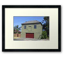 Smiling Garage, Newcastle NSW Australia Framed Print
