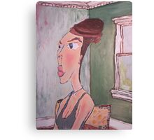 Portrait of Artists Mother As Audrey Hepburn Canvas Print